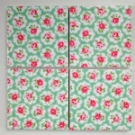 Ceramic Wall Tiles Made With Cath Kidston Mini Provence Rose Green